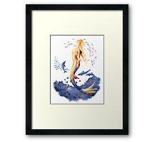 Sunrise Mermaid Framed Print