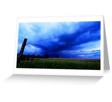 Landscape - stormy day (2016) Greeting Card