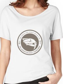The Society of Palaeontology Fanciers (Brown on White) Women's Relaxed Fit T-Shirt