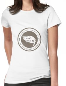 The Society of Palaeontology Fanciers (Brown on White) Womens Fitted T-Shirt