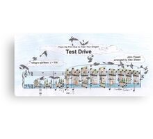 Test Drive Sheet Music Art Canvas Print