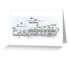 Test Drive Sheet Music Art Greeting Card