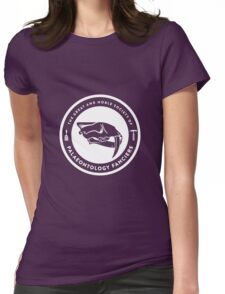 The Society of Palaeontology Fanciers (White on Dark) Womens Fitted T-Shirt