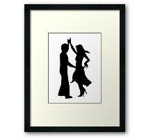 Standard dancing couple Framed Print