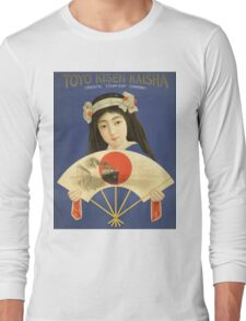 Toyo Kisen Kaisha Oriental Steamship Company Japan Vintage Travel Poster Long Sleeve T-Shirt