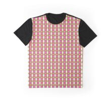 Pretty Pink Green Retro Pattern Graphic T-Shirt