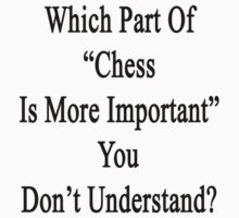 Which Part Of Chess Is More Important You Don't Understand?  by supernova23