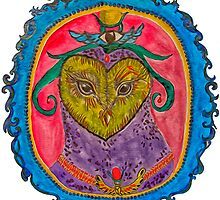 Psychedelic Owl by valgus