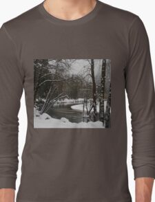 Snowy river in Yosemite Long Sleeve T-Shirt