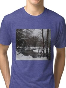 Snowy river in Yosemite Tri-blend T-Shirt