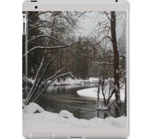 Snowy river in Yosemite iPad Case/Skin