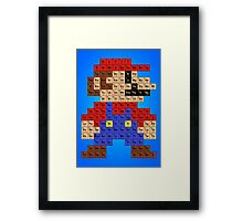 Periodic Mario Table Framed Print