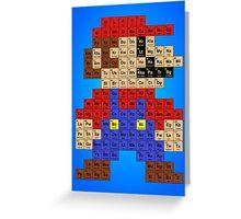 Periodic Mario Table Greeting Card