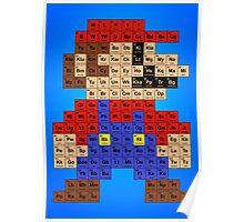 Periodic Mario Table Poster
