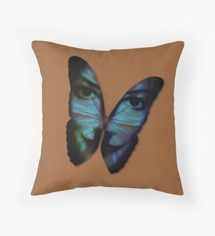 Am I A Butterfly Who Dreams About Being A Human? Throw Pillow