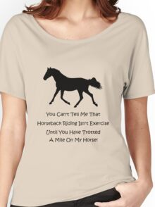 Horse & Exercise T-Shirts and Hoodies Women's Relaxed Fit T-Shirt