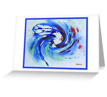BLUE SURF WATERCOLOR  Greeting Card