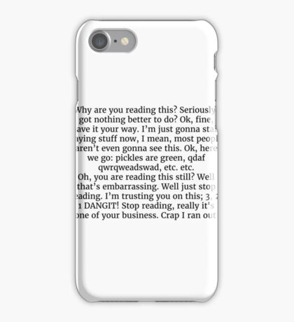 Cynical Tshirt iPhone Case/Skin