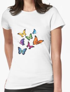 Colourful Butterflies Womens Fitted T-Shirt