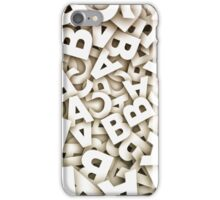 abstract letters iPhone Case/Skin