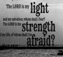 Psalm 27 Lord is My Light Sticker