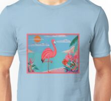 FLUORESCENT FLAMINGO Unisex T-Shirt