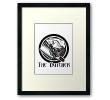 Butcher Skull Framed Print