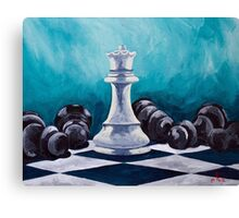 Bow down to the Queen Canvas Print
