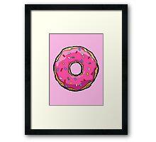 Simpsons Donut Framed Print