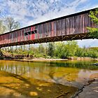 Covered Bridge at Cox Ford by Kenneth Keifer