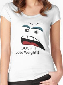 Ouch loose weight ! Women's Fitted Scoop T-Shirt