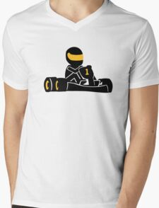 Go Kart racing Mens V-Neck T-Shirt