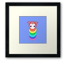 Rainbow Caterpillar Bug Framed Print