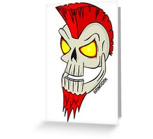 Punk Skull Greeting Card