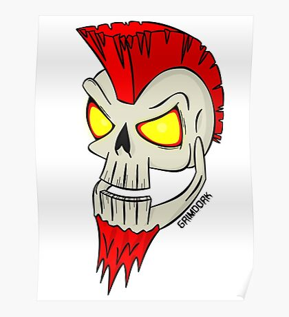 Punk Skull Poster