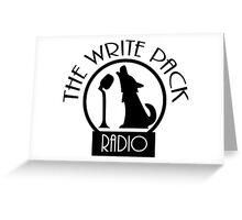 Write Pack Radio Black Logo Greeting Card