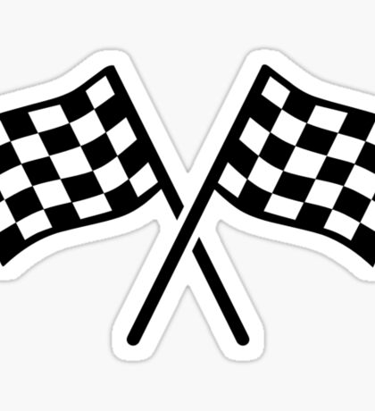 Racing finish flags Sticker