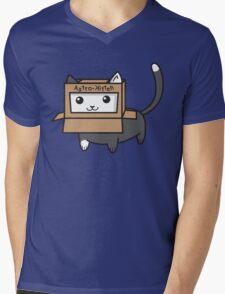 Astro Kitty Mens V-Neck T-Shirt