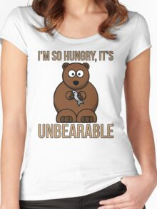 I'm So Hungry, It's Unbearable Women's Fitted Scoop T-Shirt