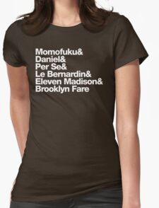 NYC Michelin Stars Womens Fitted T-Shirt