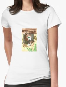 Master of hiding Womens Fitted T-Shirt