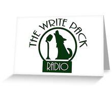 Write Pack Radio Green Logo Greeting Card
