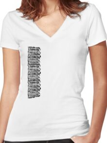 Parking Totem Women's Fitted V-Neck T-Shirt