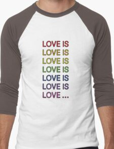 Love is... Men's Baseball ¾ T-Shirt