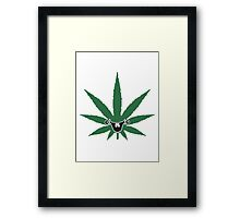 Sweet cute comic hemp face Framed Print
