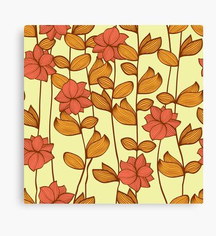 Orange flowers Canvas Print