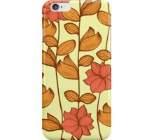 Orange flowers iPhone Case/Skin