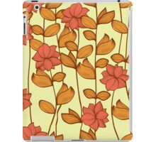 Orange flowers iPad Case/Skin