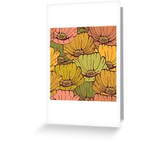 Vintage poppy flowers Greeting Card