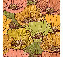 Vintage poppy flowers Photographic Print